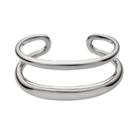 Zilverkleurige Armband van Twee Stroken van M&M