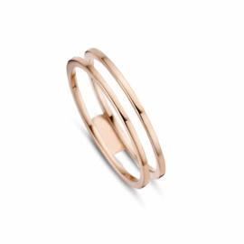 Roségouden Egale Dubbele Ring van MY iMenso Gold