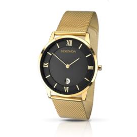 Sekonda Goudkleurig Heren Horloge met Goudkleurige Milanese Band
