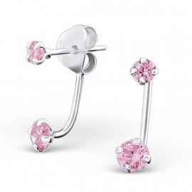 Roze Zirkonia Ear Jackets