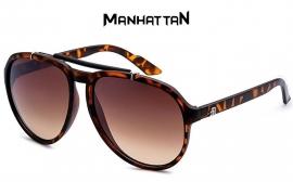 Manhattan Bruin Gevlekt Frame Zonnebril