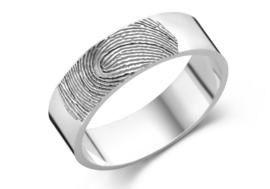 Ring met Vingerafdruk van Zilver 6 mm  van Names4ever
