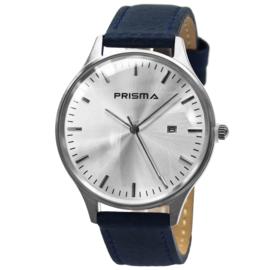 Stijlvol Heren Horloge van Prisma met Blauwe Horlogeband