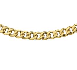 Collier van 14 karaat goud met daarin een kern van 925 zilver