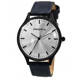 Prisma Heren Horloge 1627.629F Blauw Lederen Band