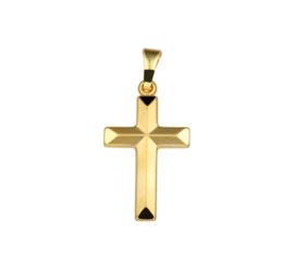 Elegante Kruis Hanger van Geelgoud