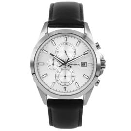 Heren Chronograaf Horloge van Edelstaal met Saffier glas van Prisma