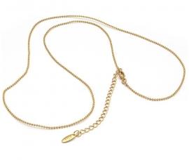 Dogtag ketting met matte goudkleur van BIBA KK00001023 90 CM