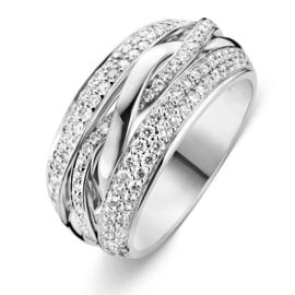 Excellent Jewelry Witgouden Fantasie Ring met Diamanten