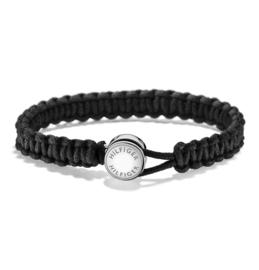 Zwarte Gevlochten Touw Armband van Tommy Hilfiger TJ2700945