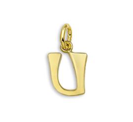 Gouden Letter Bedel Hanger – U