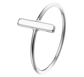 Ring van Zilver met Balkje