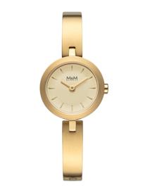 Goudkleurig M&M Dames Horloge met Goudkleurige Horlogeband