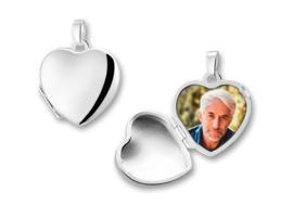 Hartvormig Medaillon van Zilver voor Twee Foto's - Names4ever