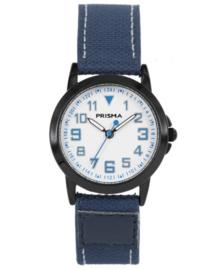 Prisma Jongens Horloge met Blauwe Canvas Band