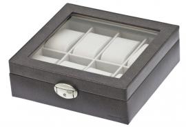 Horlogebox voor 8 horloges / Donkergrijs