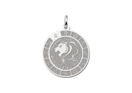 Zilveren Leeuw Sterrenbeeld Bedel met Naam ZHS089 | Names4ever