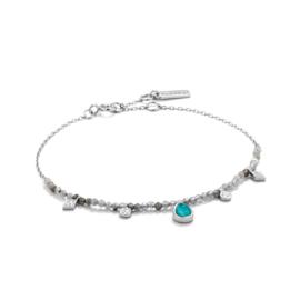 Turquoise Labradorite Bracelet van Ania Haie
