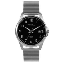 Titanium Heren Horloge van Prisma met Rekband