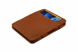 Cognac Magic Wallet RFID Portemonnee van Hunterson