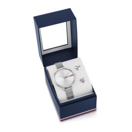 Tommy Hilfiger Zilverkleurig Horloge met Milanese Horlogeband