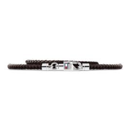 Gevlochten Bruin Lederen Armband van Tommy Hilfiger TJ2701064