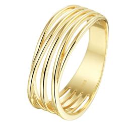 Ring met Meerdere Slanke Stroken | 14 Karaats Goud