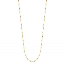 Excellent Jewelry Geelgouden Collier met Meerdere Bolletjes