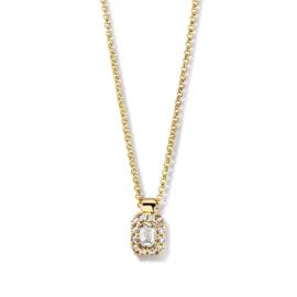 Excellent Jewelry Gouden Collier met Emerald Diamant Hanger