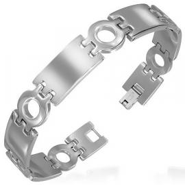 5 Plaatjes Cirkel Graveer armband