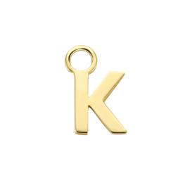 14K Geelgouden Oorringhanger met Letter K