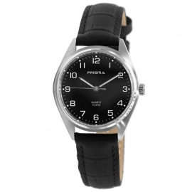 Prisma Horloge P.1555.112E Edelstaal Leder