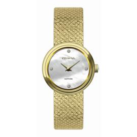 Prisma Dolce Steel Dames Horloge – Goudkleur