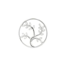 Zilveren Cover Munt met Takken en Blaadjes van MY iMenso