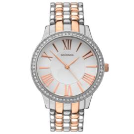 Zilver- en Roségoudkleurig Dames Horloge van Sekonda