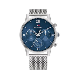 Tommy Hilfiger Sullivan Heren Horloge met Blauwe Wijzerplaat