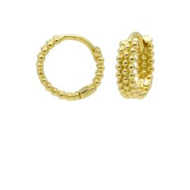Goudkleurige Oorringen met Bolletjes | Karma Jewelry