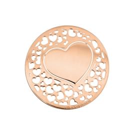 Romantische Roségoudkleurige Hart 33mm Munt van MY iMenso