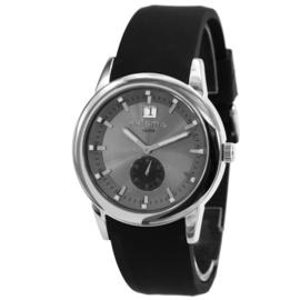 Rond Prisma Heren Horloge met Donkergrijze Wijzerplaat