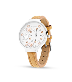 Heart Horloge van Spark met Beige Horlogeband