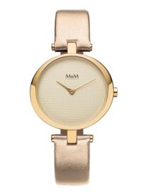 M&M Horloge met Beige Accenten voor Dames