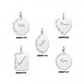 Names4ever Decoratieve Graveerplaat Zilver