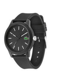 Lacoste Zwart Heren Horloge met Zwarte Horlogeband