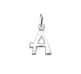 Gepolijste Zilveren Letter Bedel – A