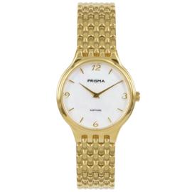 Prisma Basic Goudkleurig Dames Horloge