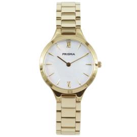 Goudkleurig Dames Horloge van Edelstaal met Schakelband