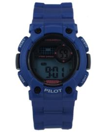Donkerblauw Digitaal Pilot Kids Horloge met Zwarte Wijzerplaat