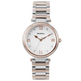 Roségoud- en Zilverkleurig Dames Horloge van Prisma