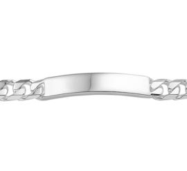 Glanzende Graveer Armband van Zilver