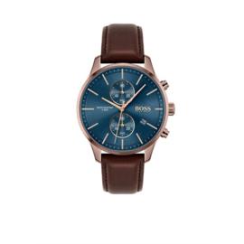 Hugo Boss Horloge Associate Roségoudkleurig Horloge met Blauwe Wijzerplaat van Boss